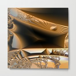 Golden layers of mysterious details Metal Print
