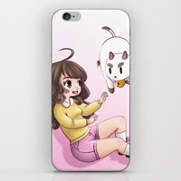 puppycat iPhone & iPod Skins featuring bee and puppycat by Diogo Dornelles