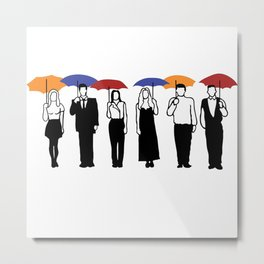 Friends TV Show Umbrella Metal Print