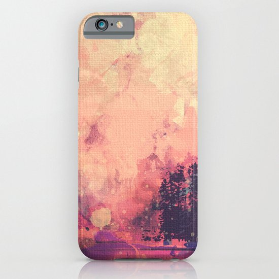colorful forest iPhone & iPod Case