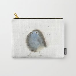 Whimsical Watercolor Blue Bird Carry-All Pouch