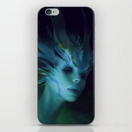 Mermaid portrait iPhone Skin