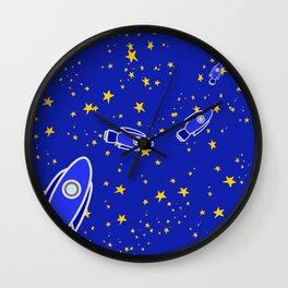 Rocketship to Mars Wall Clock
