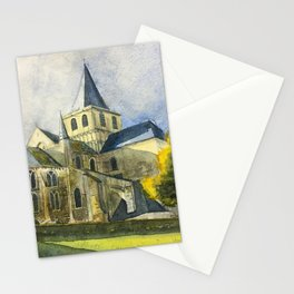 Normandy, France: Abbey of Cerisy Stationery Cards