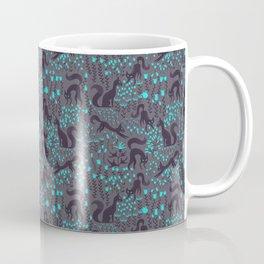 Black Halloween Cats Coffee Mug