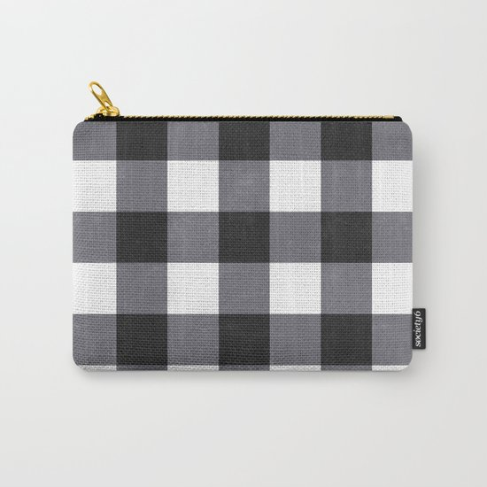 Gingham Dark Style Carry-All Pouch