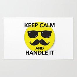 Keep Calm and Handle It Rug
