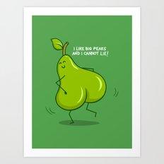 One sASSy pear! Art Print