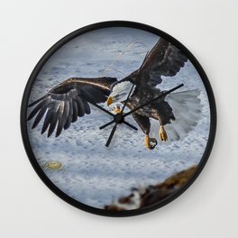 Eagle over deer Wall Clock