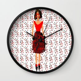 RED by Kimberly J Graphics Wall Clock