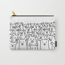 Fun Line Piggy Pattern Carry-All Pouch