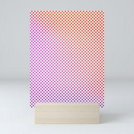 Bright, colourful circles in rows Mini Art Print