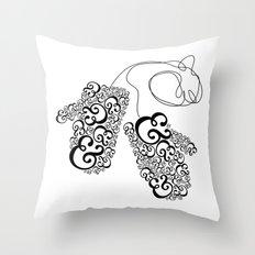 Ampersand Mittens Throw Pillow
