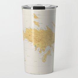 Vintage Map of St Thomas (1922) Travel Mug