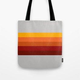 Light Gray & Orange Rainbow Stripes Tote Bag