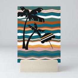 Beach Stripe. Mini Art Print