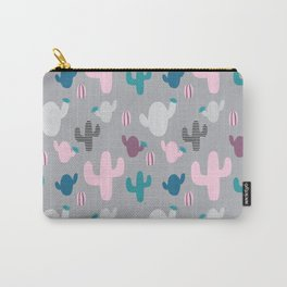 Cactus pink and grey #homedecor Carry-All Pouch