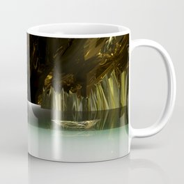 3d Modeling Cave Lake with Red Sun Coffee Mug