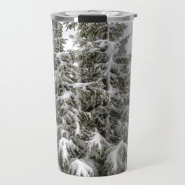 Snow Covered Trees Travel Mug