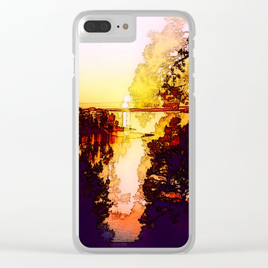 Impression of a sunset Clear iPhone Case