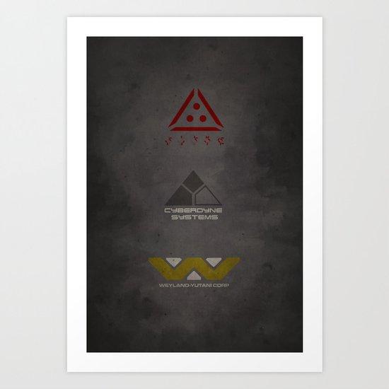 Aliens, Predator, & Terminator Art Print