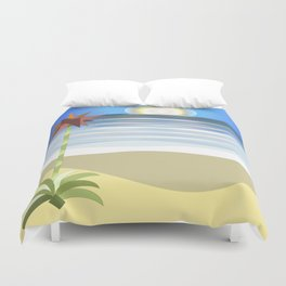 Gymea on Blue Duvet Cover