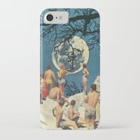 the moon iPhone & iPod Cases featuring Moon by Ben Giles
