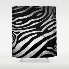 Zebra rug decor Shower Curtain