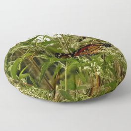 Feeding butterfly Floor Pillow