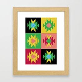 Folk Multi Framed Art Print