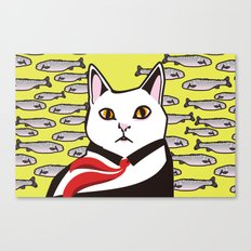 cat&fish Canvas Print