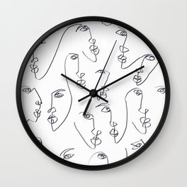 Twin Flames Black and White Wall Clock