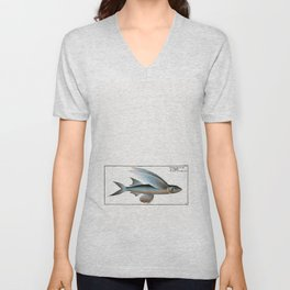 Marcus Elieser Bloch - Middle-Pinned Flying-Fish Unisex V-Neck