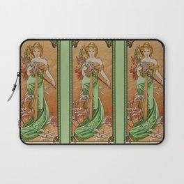 "Alphonse Mucha ""The Seasons (series): Spring"" (1900) Laptop Sleeve"