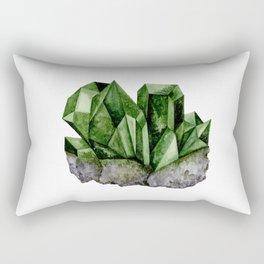 Watercolor Emerald Cluster Rectangular Pillow