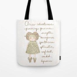 Aries girl Tote Bag