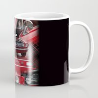 mustang Mugs featuring 1966 Mustang  by Andrew Sliwinski
