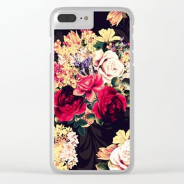 Roses and lilac. Beautiful victorian design Clear iPhone Case