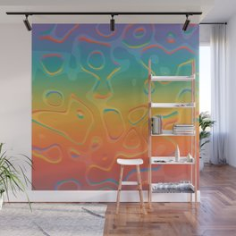 Colorful Holographic Foil Pattern 3d Texture Trendy Colors Wall Mural