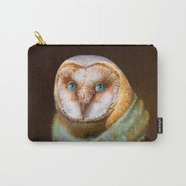 Animals - Funny Owl Painting Carry-All Pouch