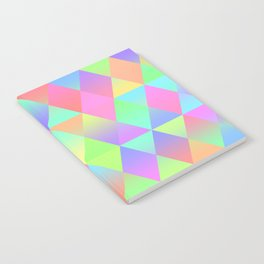 Colorful Geometric Pattern Prism Holographic Foil Triangle Texture Notebook