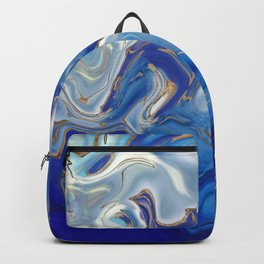 Blue agate Liquid Marble  Backpack