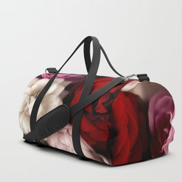 Pink, White, and Red Roses Duffle Bag