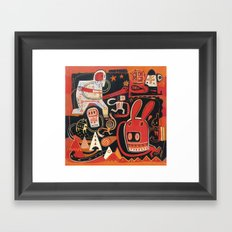 La course à l'Edelweiss Framed Art Print