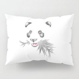 Panda Bear & Bamboo - Silver Bamboo Pillow Sham