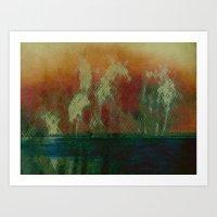 oasis Art Prints featuring Oasis by Fernando Vieira