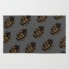 Gray Pinecone Pattern Rug