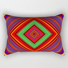 Multicolored Line Burst Pattern SB1 Rectangular Pillow