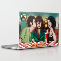 daria Laptop & iPad Skins featuring Daria with Pizza and Friends by Artik