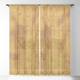 Turmeric Dyed Sheer Curtain